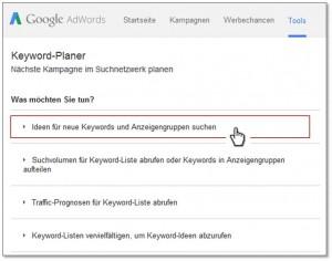 Keyword-Planer Step 2